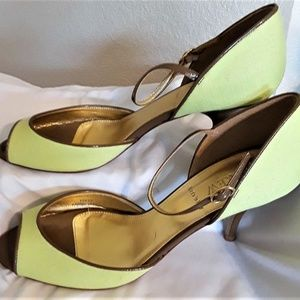 J. Crew Lime Strappy Sandals (Size: 9.5)